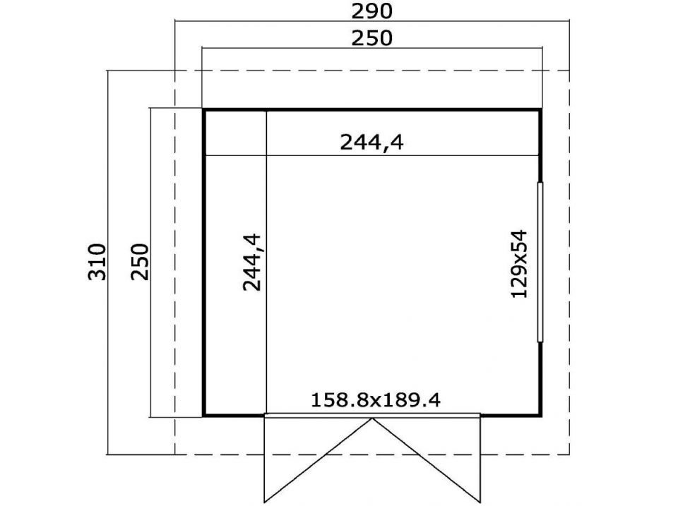 Exemple de plan d'abri de jardin