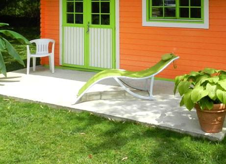 Fondation chalet de jardin
