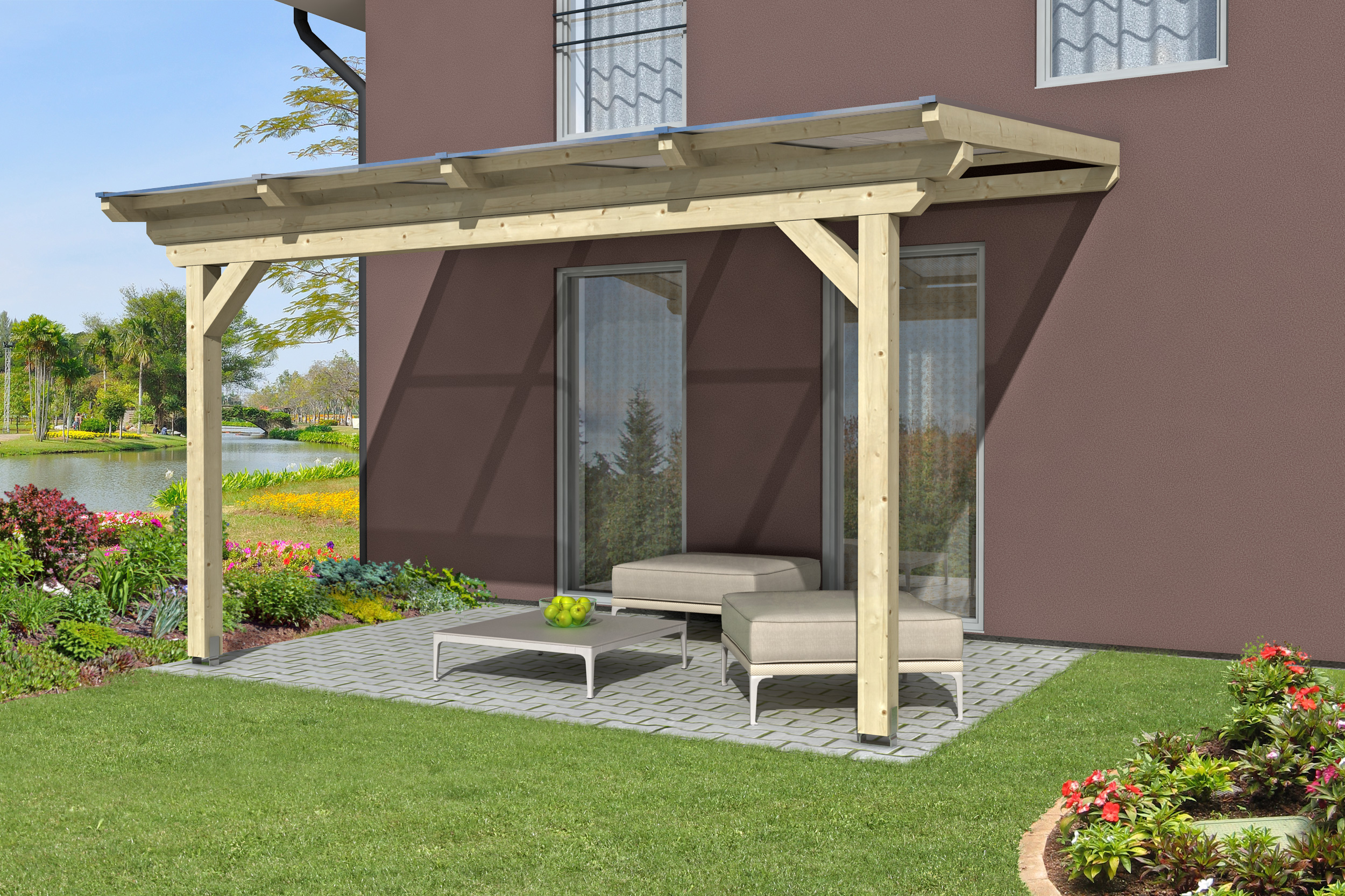 pergola bioclimatique et pergola classique abri chalet. Black Bedroom Furniture Sets. Home Design Ideas