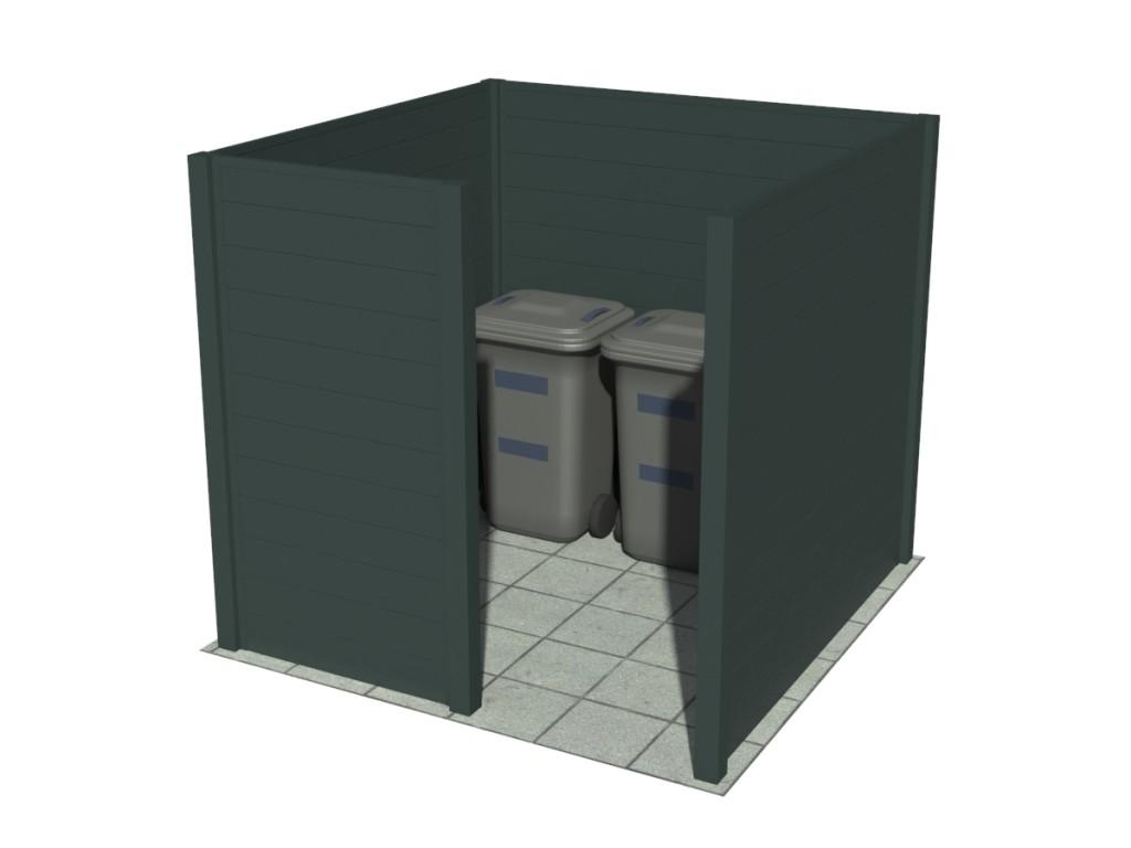 Cache conteneur particulier