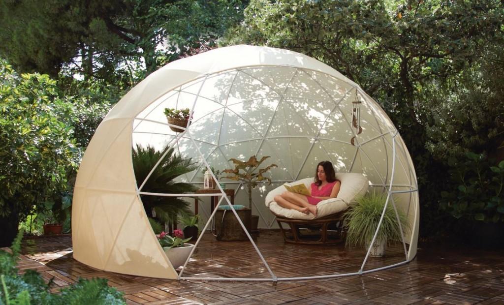Toile d'ombrage pour abri de jardin igloo