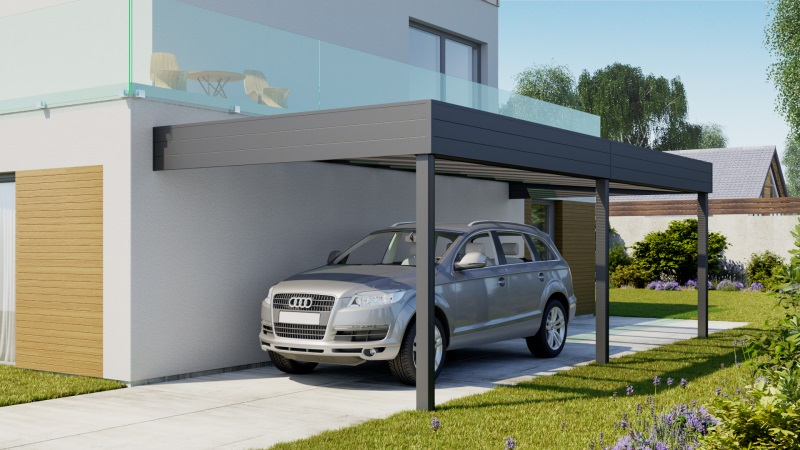 carport aluminium un renouveau pour l 39 abri voiture. Black Bedroom Furniture Sets. Home Design Ideas