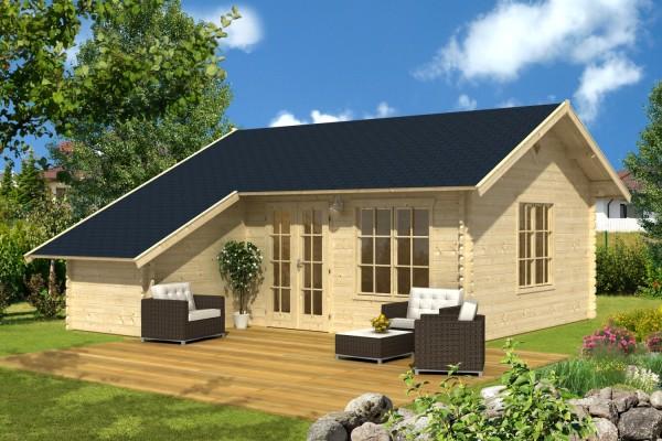 Chalet en bois extension habitation