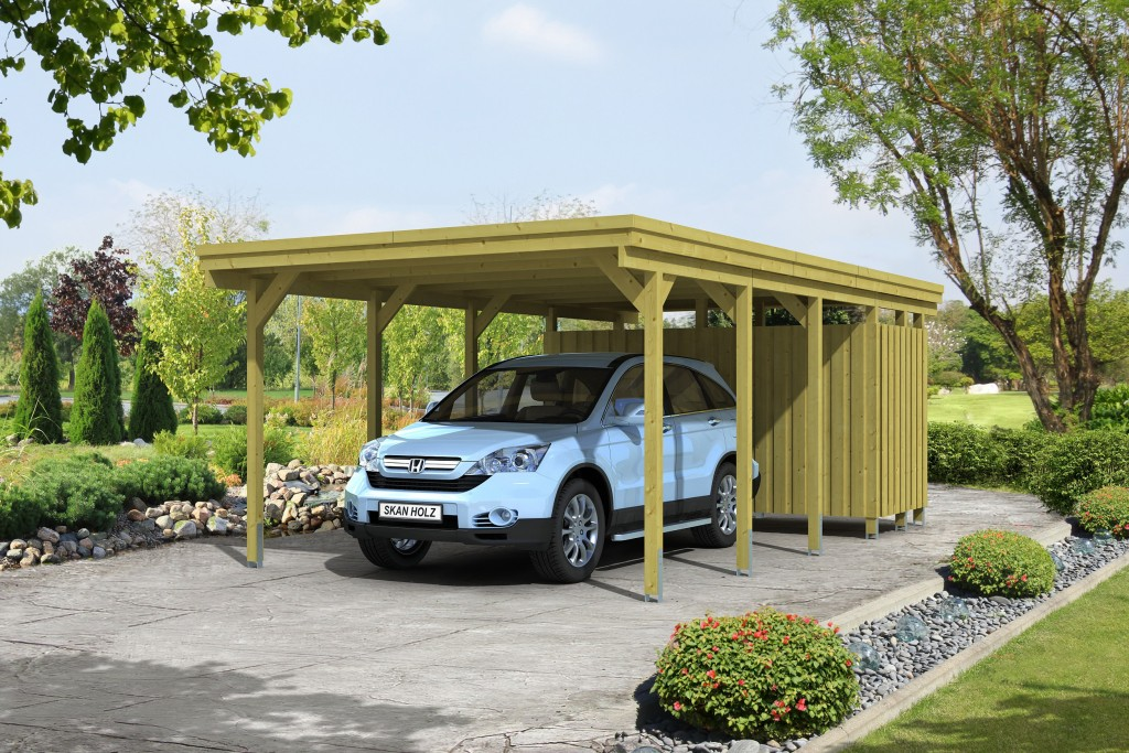 carport bois un abri voiture pour tous abri chalet. Black Bedroom Furniture Sets. Home Design Ideas