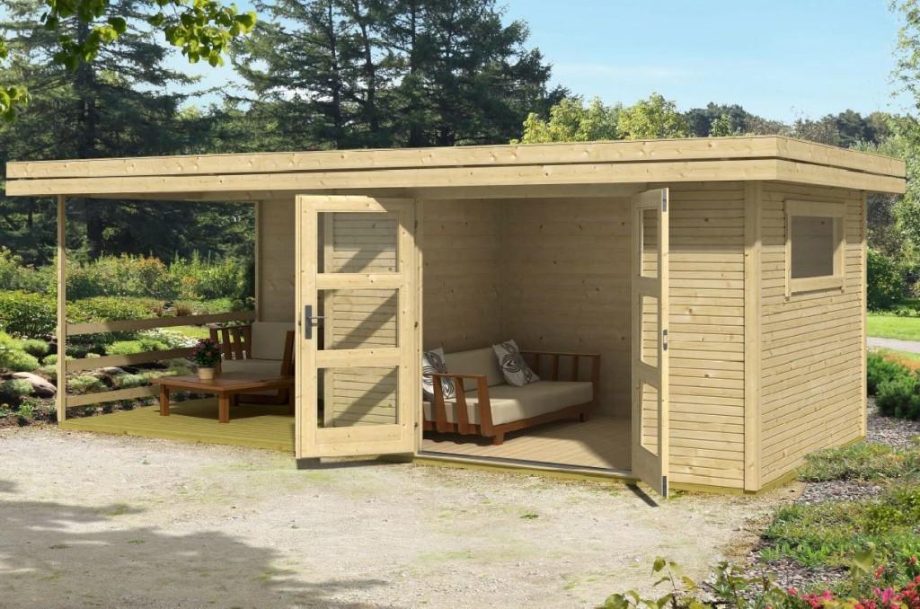 Abri de jardin Warwick 17 avec terrasse