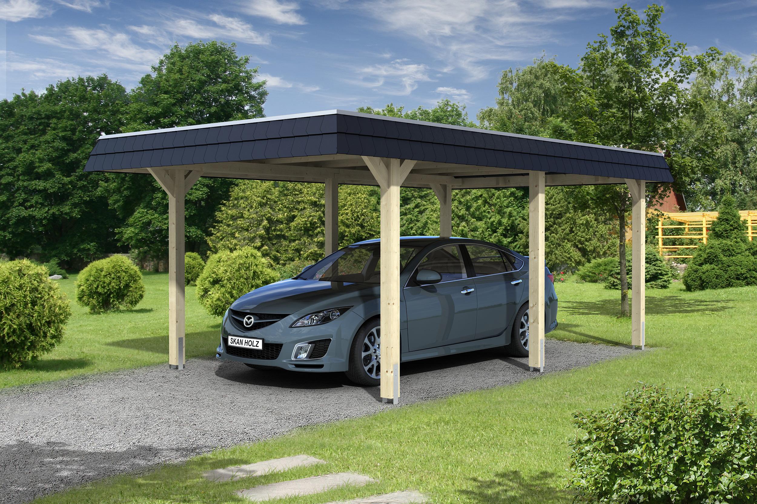 Carport bois un abri voiture pour tous abri chalet - Montage carport bois ...
