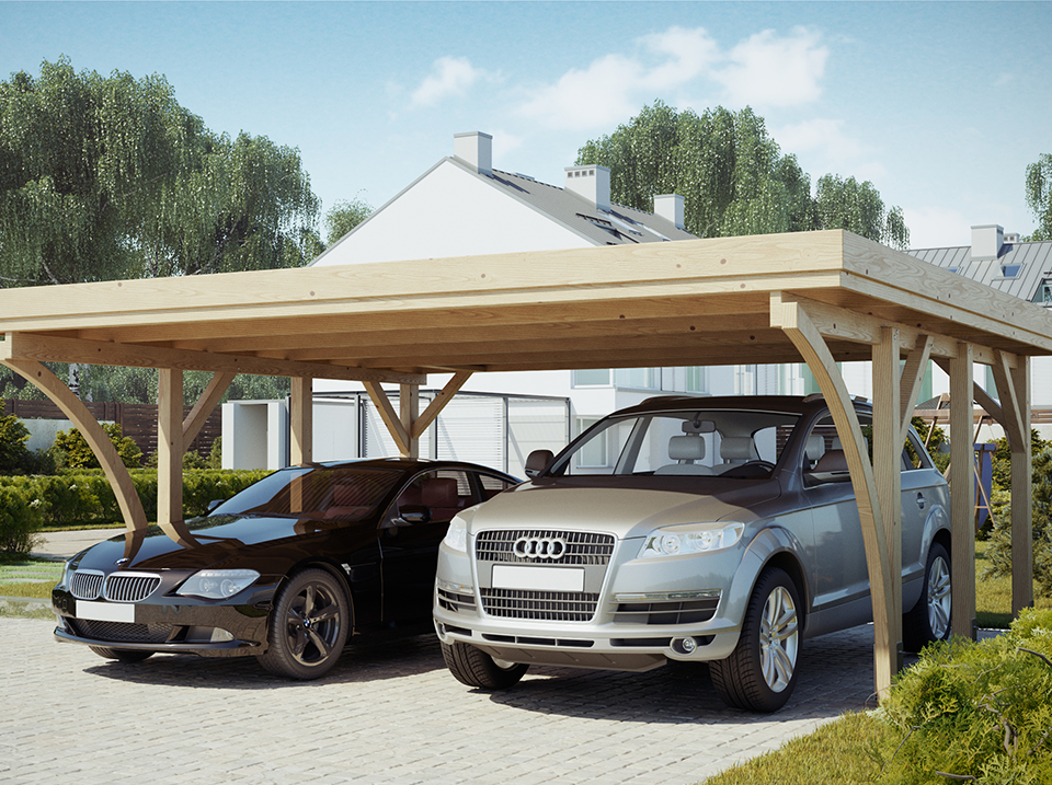 carport bois un abri voiture pour tous abri chalet. Black Bedroom Furniture Sets. Home Design Ideas