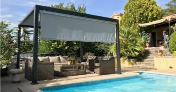 Pergola bioclimatique piscine