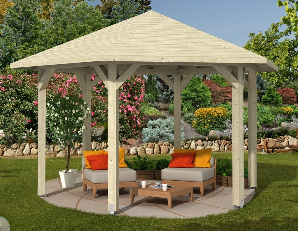 Kiosque En Bois Hexagonal gloriette, un espace de vie à part entière - abri chalet